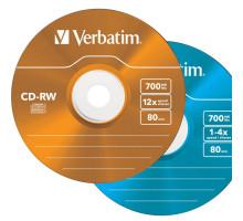Диск многократной записи CD-RW Verbatim 700Mb