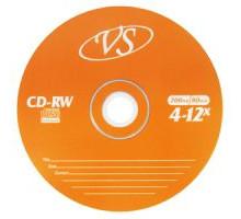Диск многократной записи CD-RW VS 700Mb (10 штук на шпинделе)