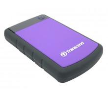 Жесткий диск внешний    1Tb Transcend  USB3.0 (TS1TSJ25H3P) прорезинен.корпус