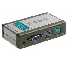 Переключатель KVM D-Link KVM-121 (на 2 компьютера, клавиатура/мышь 2х PS/2, 1хVGA)