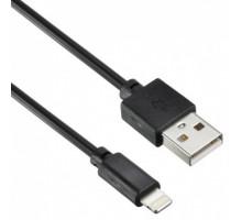 Кабель USB 2.0 A (M)  Lightning (M) 2м черный