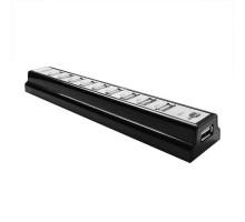 Разветвитель USB 2.0 CBR CH-310 (активный, 10х USB2.0) черный