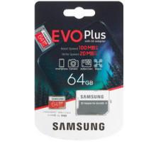 Память  64Gb Micro SDXC  EVO Plus Class 10 с/а