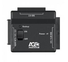 Переходник Agestar для HDD FUBCP2 IDE SATA пластик черный 2.5″ 3.5″ 5.25″