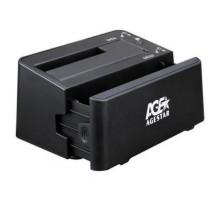 Док станция AgeStar 3UBT3-6G для HDD SATAIII (2×2.5″ или 1×3.5″, USB3.0) black