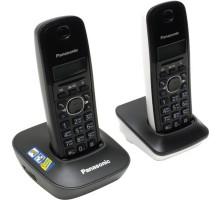 Радиотелефон DECT Panasonic KX-TG1612RU1 (2 трубки, ЖК дисплей, АОН, Caller ID, тел. справочник на 50 записей, черно-белый)