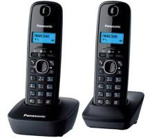 Радиотелефон DECT Panasonic KX-TG1612RUH (2 трубки, ЖК дисплей, АОН, Caller ID, тел. справочник на 50 записей, серый)