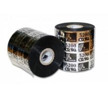 Лента красящая (Риббон) Wax/Resin Zebra 3200 (110мм x 74 м, OUT,вт.0,5″)