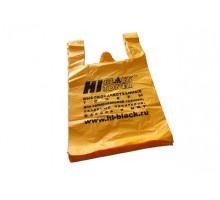 Пакет-майка Hi-Black, ПНД, цвет-желтый, 380x600 мм (в упаковке 100 шт.)